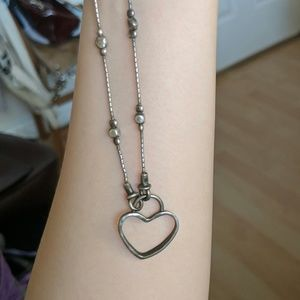 Jewelry - Sterling silver heart lock necklace